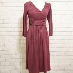 Anthropologie Maeve Plum Galina Faux Wrap Dress M